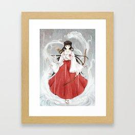 Japonese fight art Framed Art Print