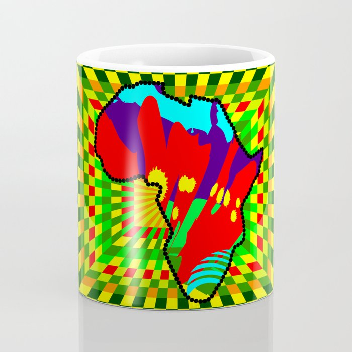 Colorful African Check Pattern Abstract Print Coffee Mug