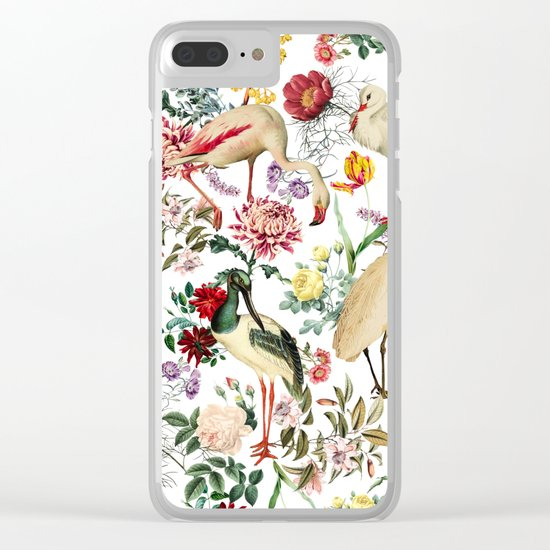 Long Legged Birds I Clear iPhone Case