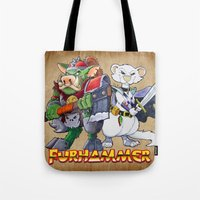 "warhammer Tote Bags featuring Furhammer ""P'Orc and Dark Ferret"" by the Artisan Rogue"