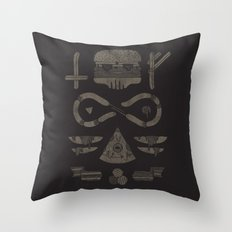Fast Food Occult Throw Pillow