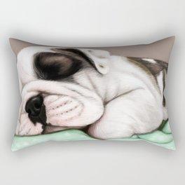 Sleeping Puppy Rectangular Pillow