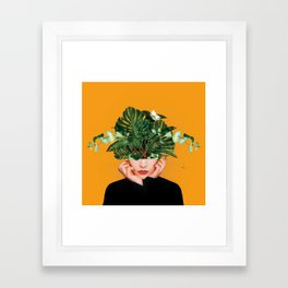 Lady Flowers || Framed Art Print