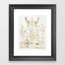 Santa Fe Garden – Gold Ink Framed Art Print