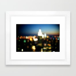 New York Lights Framed Art Print