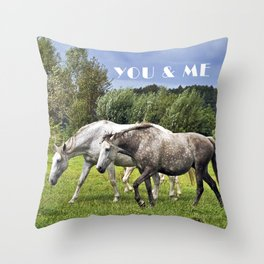 YOU and ME Throw Pillow