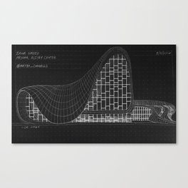 Heydar Aliyev Center Canvas Print