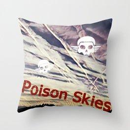 Poison Skies Throw Pillow