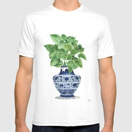 Ginger jar vase, peppermint painting T-shirt