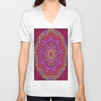 kaleidoscope V-neck T-shirts featuring Kaleidoscope by Zenya Zenyaris