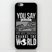 revolution iPhone & iPod Skins featuring Revolution.  by Creation Factory