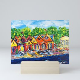 Boathouse Row  Mini Art Print