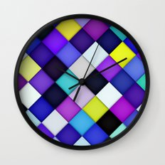 Quilted with Halftone Wall Clock