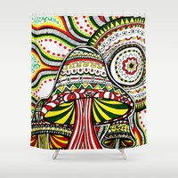 rasta Shower Curtains featuring Rasta by Marcela Caraballo