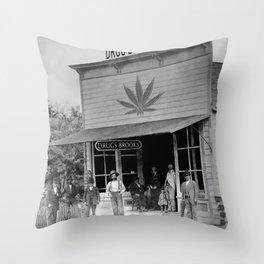 Drug Store #1 Throw Pillow