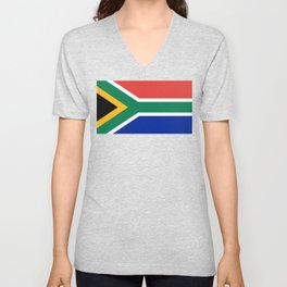 Flag of South Africa, Authentic color & scale Unisex V-Neck