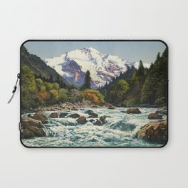 Mountains Forest Rocky River Laptop Sleeve