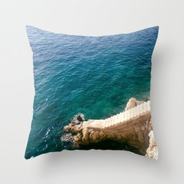 Stairs to the Sea Throw Pillow