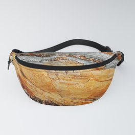 Gray Copper Marbled Petrified Wood Fanny Pack