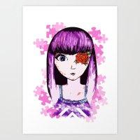 Jigsaw Violet Art Print