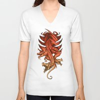 dungeons and dragons V-neck T-shirts featuring Dragons by sandara