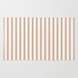 Wild MeerKat Brown Mattress Ticking Wide Striped Pattern - Fall Fashion 2018 Rug