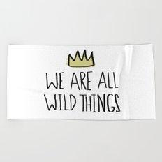 Wild Things Beach Towel