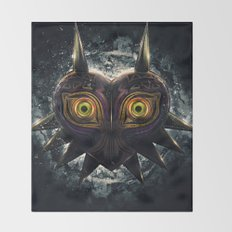 Epic Pure Evil of Majora's Mask Throw Blanket