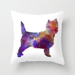 Cairn Terrier in watercolor Throw Pillow