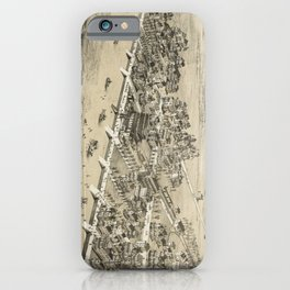 Vintage Pictorial Map of Sea Isle City NJ (1885) iPhone Case