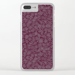 Brushstrokes, maroon Clear iPhone Case