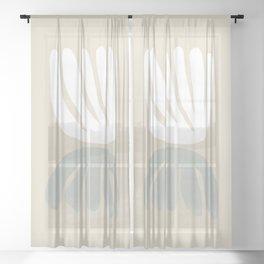 Botanical Mirror Sage Sheer Curtain
