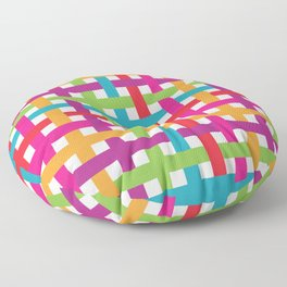 Colorful Weave Pattern 1 Floor Pillow