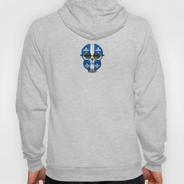 Baby Owl with Glasses and Quebec Flag Hoody