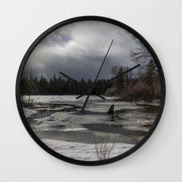 An Intricate Landscape Wall Clock