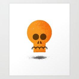 Floating Skull Art Print