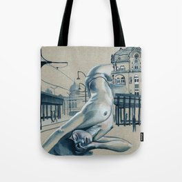 In the city // nude cityscape Tote Bag