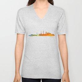 Tokyo City Skyline Hq V1 Unisex V-Neck