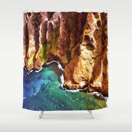 Tropical Coastline Hawaii of the Isolated Napali Coast Shower Curtain