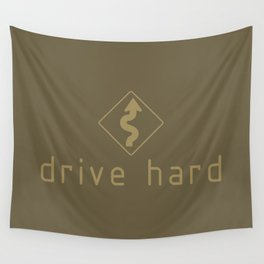 Drive Hard v4 HQvector Wall Tapestry