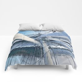 Nautical Sailing Adventure Comforters