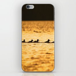 Birds Swimming At Sunset Reflection On The Lake #decor #society6 iPhone Skin