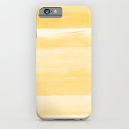 Yellow Watercolor Abstract Minimalism #1 #minimal #painting #decor #art #society6 iPhone Case