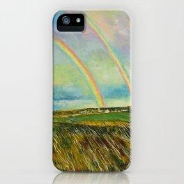 Scotland Double Rainbow iPhone Case