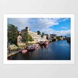 York City Guildhall and river Ouse Art Print