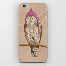 Happy Owl iPhone Skin