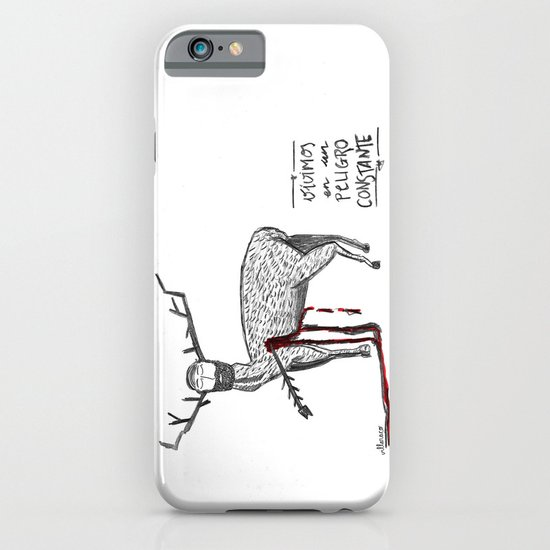 Vivimos en un peligro constante (We live in a constant danger) iPhone & iPod Case