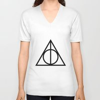 deathly hallows V-neck T-shirts featuring Deathly Hallows symbol by Vera