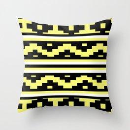 Etnico Yellow version Throw Pillow