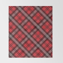 Scottish Plaid-Red Throw Blanket